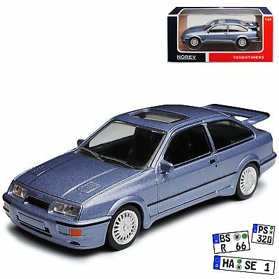 Ford Sierra RS Cosworth Coupe Grau 1982-1993 1/43 Norev Modell Auto mit oder o..