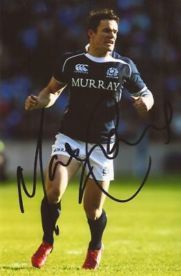 SCOTLAND & CASTRES RUGBY UNION: MAX EVANS SIGNED 6x4 ACTION PHOTO+COA