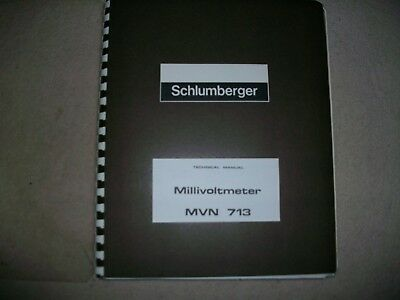 Schlumberger Mvn 713 Millivoltmeter Manual