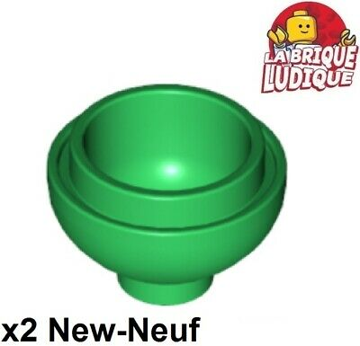 Lego 2x brique brick round dome bas bottom 2x2 15395 noir//black NEUF