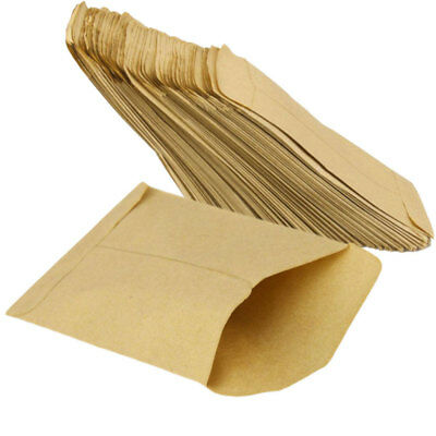 100 pcs Kraft Paper Cookie Candy Package Gift Bags Cellophane Party Bi XHI