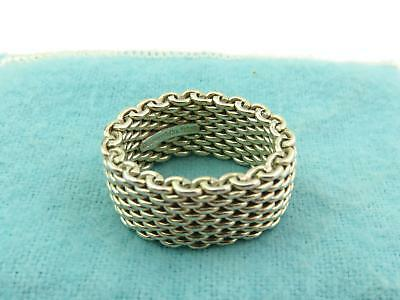 Authentic TIFFANY & CO Sterling Silver Somerset Mesh Ring Size 5.5