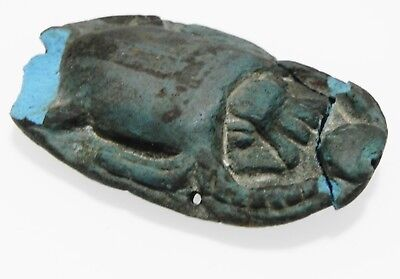Zurqieh - As9992- Ancient Egyptian Egyptian Blue Scarab, 1500 - 1075 B.c