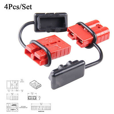 4Pc Car Trailer 6-8 Gauge Battery Quick Connect/Disconnect Wire Harness Plug Kit