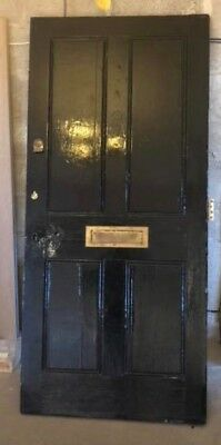 Stunning Heavy Solid Wood Front Door - Period Removed From A Victorian Terrace.