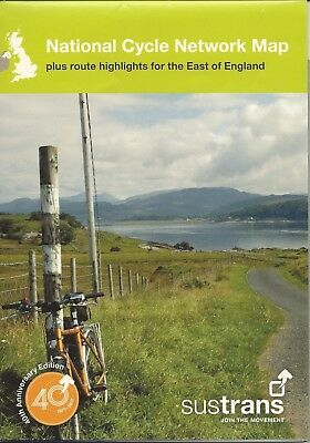 SUSTRANS National Cycle Network Map + East of England route highlights