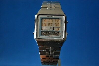 Vintage Seiko Lcd  D410-5000 Ao. Sign Table Memo.  Alarm/Chron.    V.v.rare*