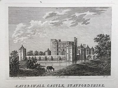 1776 Antique Print; Caverswall Castle, Staffordshire after Francis Grose