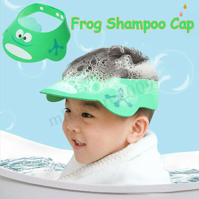 Adjustable Bathing Shower Shampoo Water Cap Hat Ear Hair Shield For Kids Baby