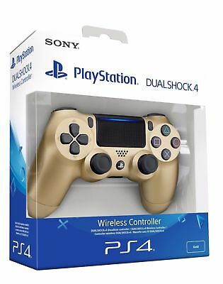 Controller Sony Wireless Ps4 Dualshock 4 Pad Gold Oro Playstation 4 V2 Joystick!