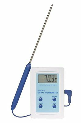Digital Food / Catering Thermometer supplied with Pointed Stainless Steel Probe