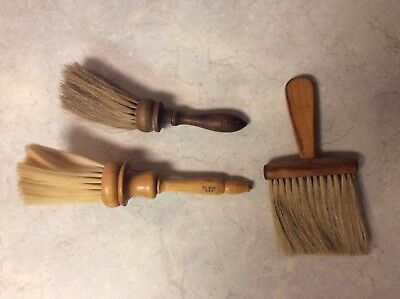 Lot of 3 Vintage Barber's Neck Brushes Hair Dusters Sears 9298 & More