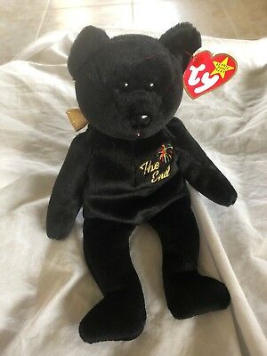 "Ty Beanie Babies  ""The End"" Bear Rare Errors Retired Mint"