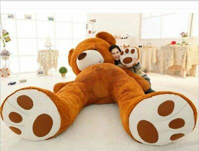 200cm Cute Dark Brown Big Teddy Bear For Christmas Gift Huge Unfilled Toy