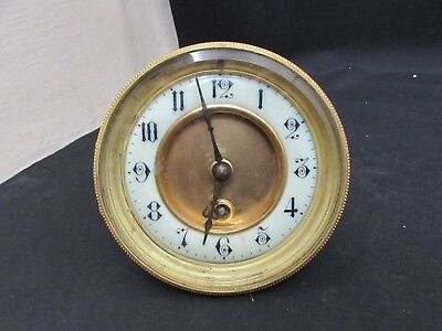 "Antique French Mantel Clock Movement For 4.25"" Fitting Diameter"