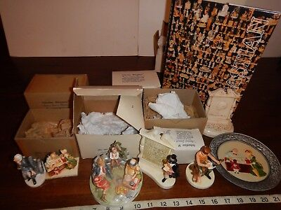 Large Assorted Lot of Sebastian Miniature Figurines with book and some boxes