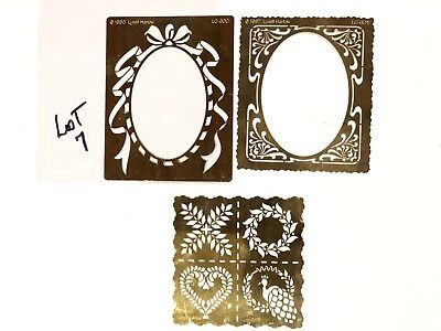 Brass Stencils Embossing lot Of 3 Pcs Lynell Harlow OVAL FRAMES - #7