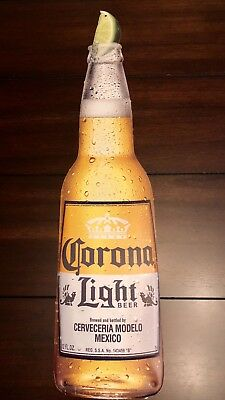 CORONA BEER Bottle Pub Metal Sign Bar Tin Tacker Bottle with Lime GREAT GIFT