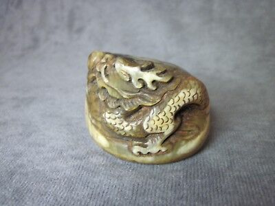 Ox Horn Oxhorn Dragon Seal Stamp Signet