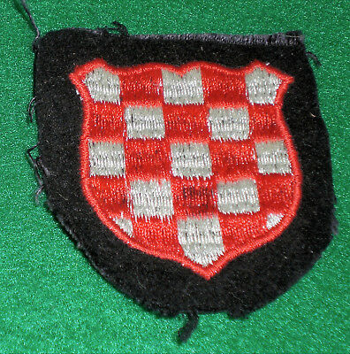 Croatian Volunteer Embroidered Patch, In Nice Condition...estate Fresh