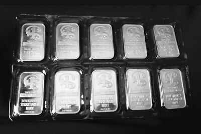 Rare! Lot of 10 1 Troy oz 999 Silver Bars Sealed Northwest Territorial Mint