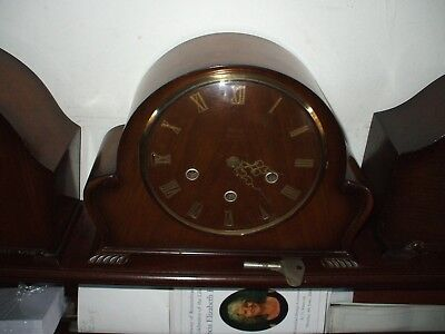 Smiths Vintage Late Art Deco 8 Day Westminster Chime Mantle Clock V G C