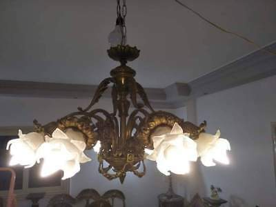 Antique Bronze Brass French style 8 arms  Chandelier