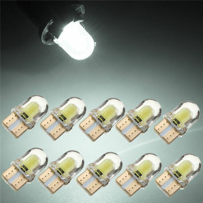 10x T10 194 168 W5W COB 4SMD LED CANBUS Silica Bright White License Light lamp