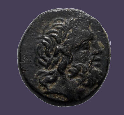 Archaios | Greek Pontos Amisos Zeus / Eagle on Thunderbolt Monogram | AE18