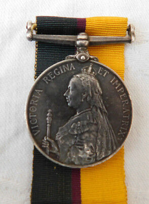 Victorian 1899 Queens Sudan Medal 1st Lincolnshire Regiment - Private Earle