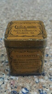 """Copy Good"" Brand Antique Typewriter Ribbon Box Tin 1890s - 1910s"