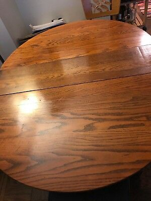 Beautiful Antique Oak Claw Foot Dining Table With Removeable Leaf Made In Usa