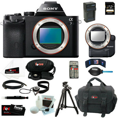 Sony ILCE7B 24.3MP a7 Interchangeable Lens Camera(Body Only) and Accessories Kit