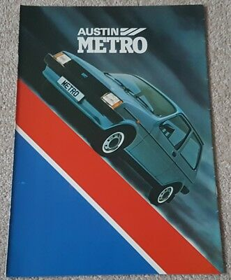 Early print 1980 Austin Metro L, HLE, S and HLS UK sales brochure
