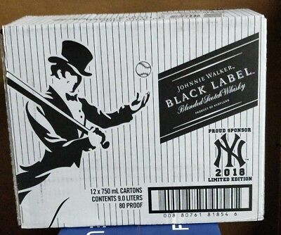 Johnnie Walker Black Label NY Yankee Limited Edition Empty Box