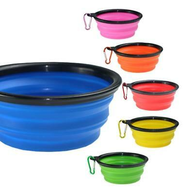 Cat Dog Pet Travel Feeding Portable Collapsible Silicone Bowl Water Dish Feeder