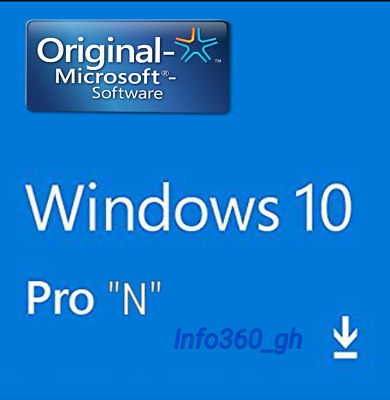 10 PRO N  Win- KEY/CLAVE LICENCIA/LICENSE 100% ORIGINAL 32/64 Multilenguaje