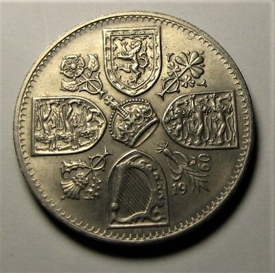 1960 Crown coin Elizabeth II Crown Five Shilling 5/