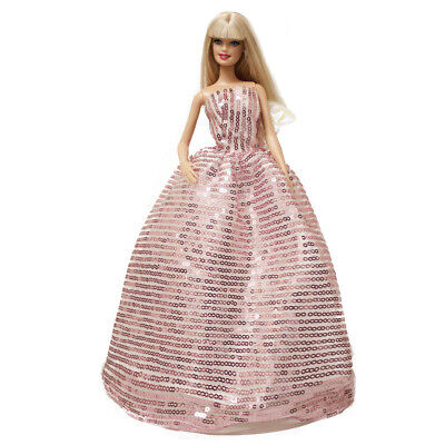 Peregrine Pink Dazzling Sequins Gown Wedding Dress for 11.5 inches Doll