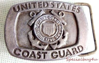 United States Coast Guard 1790 Siskiyou Belt Buckle Detailed Heavy Duty Pewter