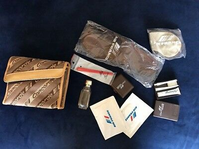 VINTAGE CONCORDE Air France AMENITY BAG FOR HER PARFUME, NAIL FILE, TOOTH BRUSH