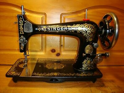"""Antique Singer Sewing Machine Head Model 27 """" Gingerbread """"  ,serviced"""