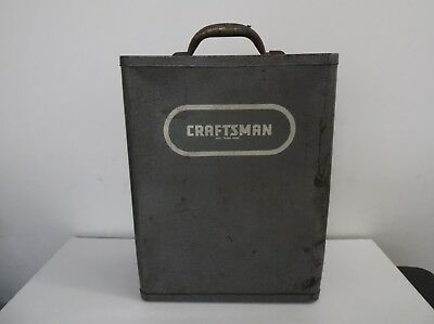 Rare Vintage Old Craftsman Wall Mount Toolbox Utility Cabinet Box Chest Metal