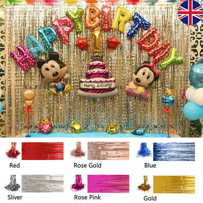 3M Shimmer Foil Glitter Tinsel Metallic Backdrop Curtain Window Wedding Party