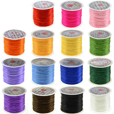 50m x 1mm Elastic Beading Thread for Jewellery Making Stretch String Cord Thread