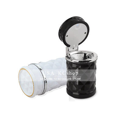 New Portable LED Car Auto Truck Cigarette Smoke Ashtray Ash Cylinder Cup Holder