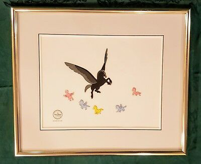 WALT DISNEY Fantasia The Pastoral Limited Edition Serigraph Cel Framed Pegasus