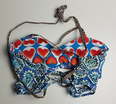 5d362a3ba49f2 MAAJI FLORAL LEAF Palm Print Strappy Back Reversible Bikini Top ...
