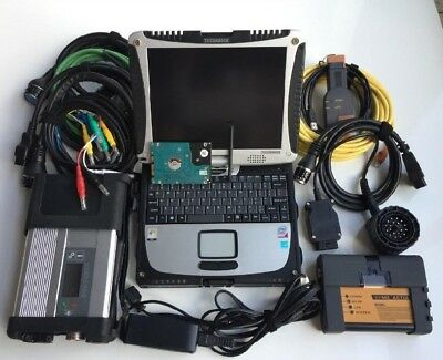 NEWEST 2in1 diagnostic-tool BMW ICOM NEXT+ sd connect mb star c5 CF19 Laptop