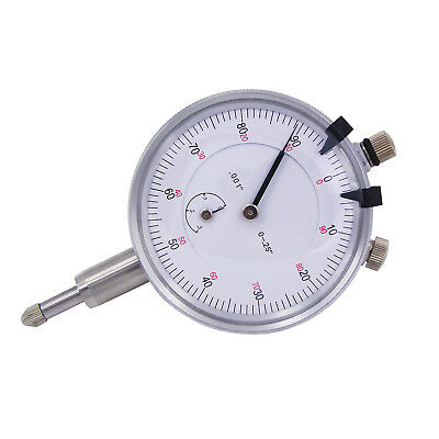 "HFS(R) 1/4"" X 0.001"" Dial Indicators With Lug Back & White Face"